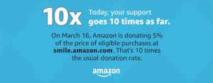Amazon Smile donates 5% to LIHS on March 16,2017