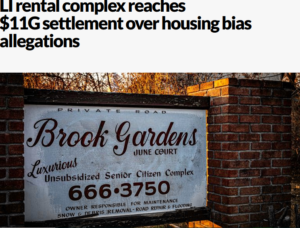 Newsday: LI rental complex reaches $11G settlement over housing bias allegations